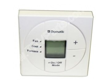 dometic white duo therm lcd heat cool thermostat sku1108. Black Bedroom Furniture Sets. Home Design Ideas