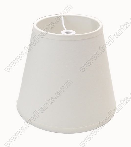 Lamp shade with Cream Cloth and Hardware sku2400 - Click Image to Close
