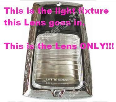 Porch Compartment Light Lens Only SKU992 - Click Image to Close